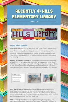 Recently @ Hills Elementary Library