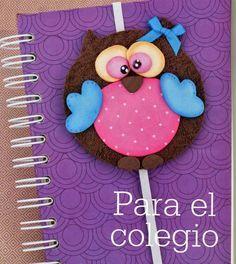 Manualidades escolares para decorar: Sujetador de cuadernos o carpetas