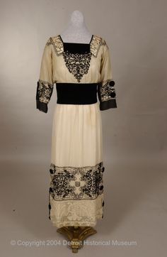 1915-1918 dress via The Detroit Historical Museums Historical Costume Collection.