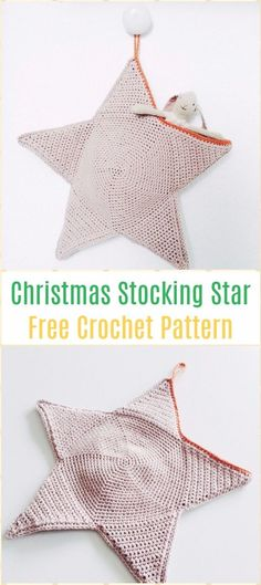 Crochet Christmas Stocking Star Free Pattern - Crochet Star Free Patterns
