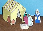 A Tent for Abraham and Sarah      This easy-to-make Bible times tent can also be a tent for Moses and the Exodus, Jacob's family, for Joseph stories, the prophets or other Bible stories. It can be a tent for David though mostly he stayed in caves when he was running from Saul.