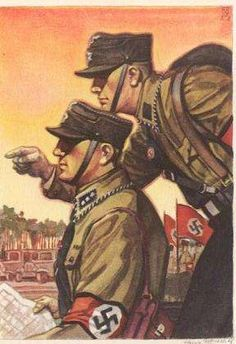 Nazi propaganda, featuring the SA Brownshirts, 1930
