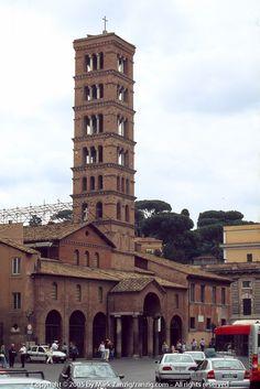 Tower of Santa Maria in Cosmedin, located at the Piazza della Bocca della Verita, Roma Santa Maria, Roman Holiday, Bella, Worship, Places To Go, Around The Worlds, City, Building, Travel