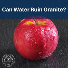 Water on its own will not damage granite but it can leave a stain. The best practice is to always wipe up spills, even if they are just water, from your granite countertops to avoid any discolorations. Bathroom Countertops, Kitchen Countertops, Granite Cleaner, Hillside Landscaping, Landscaping Ideas, Granite Colors, Hard Water Stains, Countertop Materials, Mild Soap
