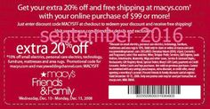 Macy's Coupons Ends of Coupon Promo Codes JUNE 2020 ! Looking for Macy's coupon and promotional code? Goodshop's coupon specialists re. Promo Codes For Macys, Free Printable Coupons, Free Printables, Dollar General Couponing, Jcpenney Coupons, Coupons For Boyfriend, Coupon Stockpile, Grocery Coupons, Mcdonalds Coupons