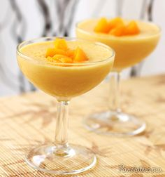 Peach Mousse.Mousse de Pêssego ~ PANELATERAPIA - Blog de Culinária, Gastronomia e Receitas.