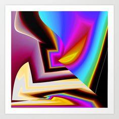 Rainbow Flame Art Print by David  Gough - $15.00
