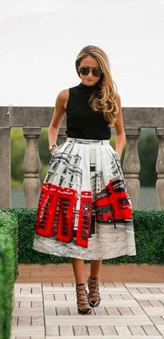 Beautiful London pleated midi skirt - under $50!