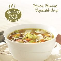 Winter Harvest Vegetable Soup Recipe from Taste of Home -- shared by Barbara Marakowski of Loysville, Pennsylvania