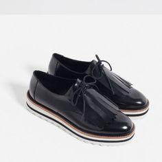 femme bleu chaussures zara zara chaussures xhdtQrCs