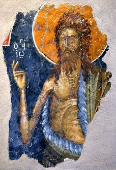 Музей Византийской культуры Салоники, Греция  From Museum of Byzantine Culture Thessaloniki, Greece  John the Baptist (fourteenth century)   Иоанн Креститель (четырнадцатого века)