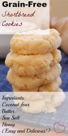 shortbread cookies sub coconut oil for butter                                                                                                                                                                                 More