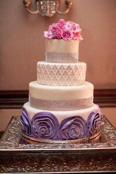 Featured Photographer: Bridgette Marie Photography; Wedding cake idea.