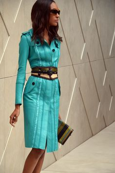 Turquoise Leather. BURBERRY SPRING/SUMMER 2012