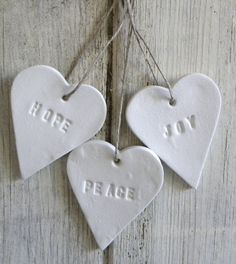 Inspiration: polymer clay stamped hearts.