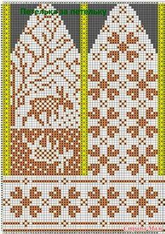Sockwork Orange pattern by Ursa Major Knits Knitted Mittens Pattern, Knit Mittens, Knitting Charts, Knitting Patterns, Knit Crochet, Crochet Shoes, Dragon Cross Stitch, Fingerless Mitts, Last Stitch