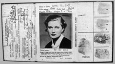Lee Miller's 1907 passport. Off to become one of the best photo journalists of both Wars. Lee Miller, Man Ray, Matt Hardy, Birth Colors, Liberation Of Paris, Zelda Fitzgerald, Legion Of Honour, Portraits, Time Travel