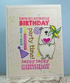 Happy Birthday Card from the Which Craft? blog. #PinSightsChallenge #EssentialsbyEllen #EllenHutsonLLC #AllInside