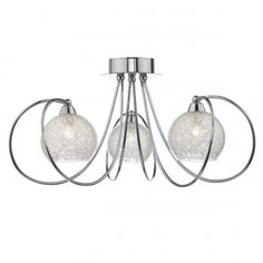RAF5350 Rafferty 3 Light Semi Flush Polished Chrome