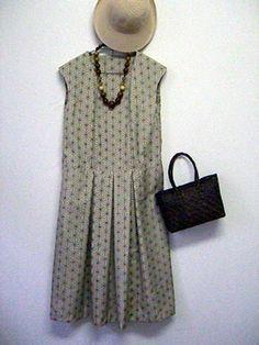 麻の葉模様の大島紬:着物リメイク・洋裁教室 OHANA