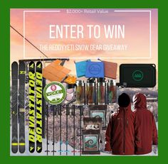 Eligibility: 18+ US, Canada, UK   Ends: 03-13-2018 11:59 PM EST   Prize: Enter to win:  4FRNT Skis – Devastator Retail $650. Adventure Mat – 2 Adventure Mats – $29.95 x 2. Liquid Hardware- 2 Granite Big Wall Aurora's and 2 Melted Earth Auroras $30 x 4. GnarBox 1...