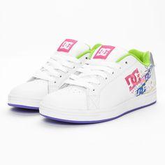 DC Skateschuhe in  weiß/rosa - perfekt für Girls und junge Mädels