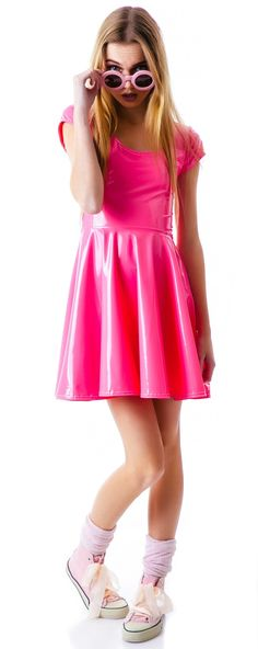 DEVOWEVO Bubblicious Skater #Dress #pink