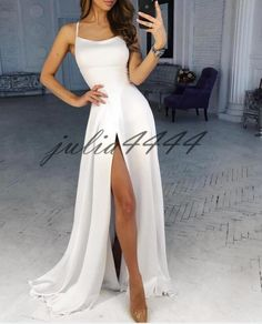 dress, White Off Shoulder Long Prom Dress A Line Halter Women Party Gowns. - dress, White Off Shoulder Long Prom Dress A Line Halter Women Party Gowns 2019 Custom Made Women Party Gowns Source by jastdeondreschuppe - Elegant Dresses, Pretty Dresses, Beautiful Dresses, Party Gowns, Homecoming Dresses, White Prom Dresses, Straps Prom Dresses, Wedding Dresses, Long Party Dresses