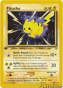 Pokemon Neo Genesis Card 70 - Pikachu $0.99-$2.00