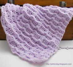 Тutorial crochet blanket pattern crochet baby by PatternsDG