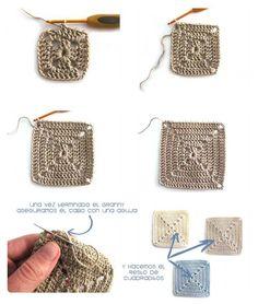 Transcendent Crochet a Solid Granny Square Ideas. Inconceivable Crochet a Solid Granny Square Ideas. Granny Square Crochet Pattern, Crochet Squares, Granny Squares, Crochet Granny, Crochet Blanket Patterns, Crochet Motif, Crochet Doilies, Crochet Stitches, Knit Crochet