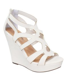 3aae436e1dd2 White Ella Wedge by TOP MODA  zulilyfinds. Only   17.99. Such cute shoes
