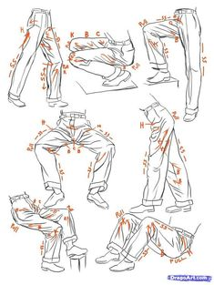 How to Sketch Anime Clothes Step by Step Anime People Anime Draw Japanese Anime Draw Manga FREE Online Drawing Tutorial Added by catlucker January 19 2013 7 47 41 pm # Pants Drawing, Body Drawing, Anatomy Drawing, Drawing Clothes, Drawing Reference Poses, Drawing Poses, Drawing Tips, Drawing Sketches, Drawing Ideas
