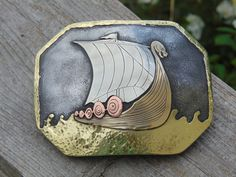 Boucle en navire Viking Viking Belt Buckle par BluegrassEngraving