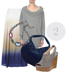 Ombre Maxi Skirt Look Two
