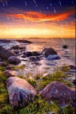 Rain In SunSet Sea Live Wallpa