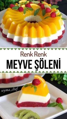Jello Recipes, Cake Recipes, Dessert Recipes, Spring Desserts, Easy Desserts, Pasta Cake, Dessert Buffet, Turkish Recipes, Tea Cakes