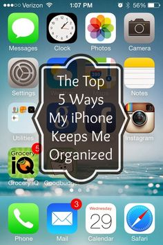 Salt and Pepper Moms: The Top 5 Ways My iPhone Keeps Me Organized<--- Pretty much all the apps i use and exactly why i love my iPhone, but i need to check out her grocery app i use a different one