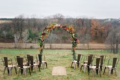 Autumn Elopement on Ruffled | Calligraphy by Hooked Calligraphy, Photo by Melissa Oholendt http://ruffledblog.com/minnesota-hilltop-elopement-inspiration