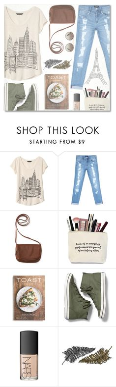 """""""Cafe Chic"""" by anilovic ❤ liked on Polyvore featuring Banana Republic, Bebe, Aéropostale, PHAIDON, Keds, NARS Cosmetics, Paperself and Prada"""