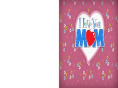 Check out these free printable Floral Mother's Day Cards!