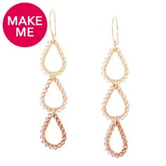 You're Making Me Blush Earrings | Fusion Beads Inspiration Gallery