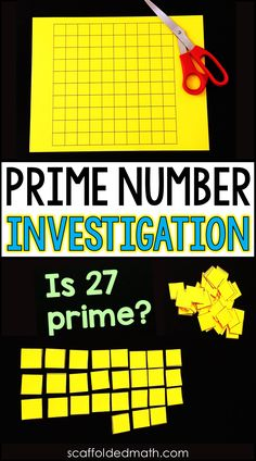 If your students struggle with the idea of prime vs. composite numbers, this hands-on investigation activity into prime numbers may be helpful, especially to the kinesthetic learners in your classroom. Prime And Composite Numbers, Prime Numbers, Maths Investigations, Math Enrichment, Teaching Skills, Teaching Math, Math Skills, Teaching Ideas, Math Lesson Plans