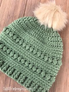 Bead Stitch Hat - free crochet pattern at 5 Little Monsters. With link to matching cowl.