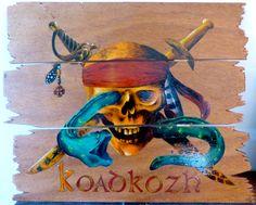 """Acrylique sur bois """"le Pirate de Koadkozh"""""""