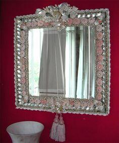 """""""Rose and grey """"  miroir"""