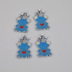 Frog Charm in Silver Tone For Beading Scrapbooking Embellishment /& Craft