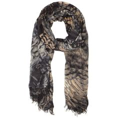 Peacock Scarf ($135) ❤ liked on Polyvore