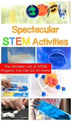 Need more science, technology, engineering, or math in your classroom? These STEM activities are the perfect STEM enrichment activities for kids and include hundreds of STEM ideas as a list of STEM activities. It's the ultimate STEM challenge list of STEM Kindergarten Science Experiments, Enrichment Activities, Science Activities For Kids, Kindergarten Stem, Science Ideas, Preschool Science, Preschool Education, Spring Activities, Elementary Education