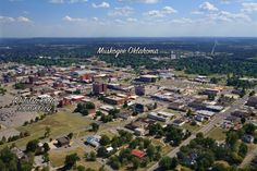 Tulsa aerial picture of Muskogee Oklahoma Down Town Arial Photography by A 1 Tulsa Photo 918 808 6092 Muskogee Oklahoma, Tulsa Oklahoma, Real Estate Photography, Aerial Photography, Thing 1, Paris Skyline, City Photo, Dolores Park, Pictures